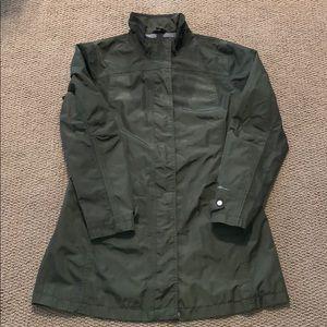 Eddie Bauer dark green Rain/Fall Jacket